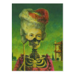 Gothic Masked Skeleton Postcard