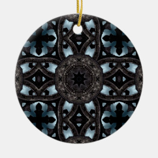 Gothic medieval crosses and medallions christmas ornament
