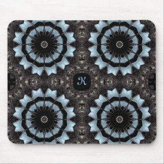 Gothic medieval kaleidoscope monogram K Mouse Mat