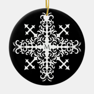 Gothic medieval snowflake christmas ornament
