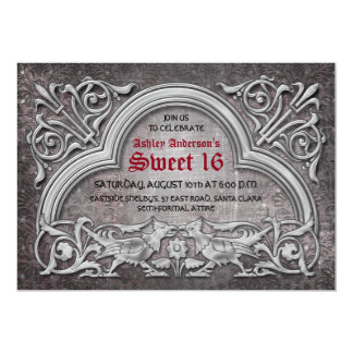 Gothic Medieval Sweet 16 Birthday Party Invitation