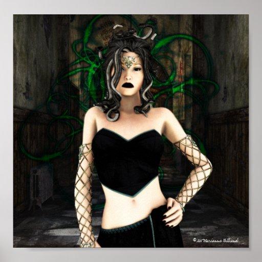 Gothic Medusa Poster