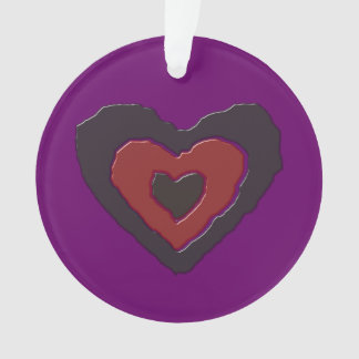 Gothic Melting Love Heart Acrylic Ornament