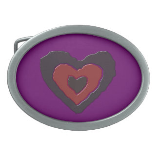Gothic Melting Love Heart Belt Buckle