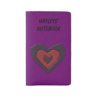 Gothic Melting Love Heart Custom Large Moleskine Notebook