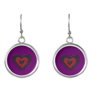 Gothic Melting Love Heart Drop Earrings