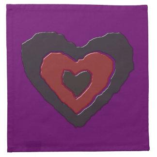 Gothic Melting Love Heart Napkin
