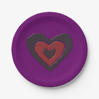 Gothic Melting Love Heart Paper Party Plates