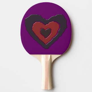 Gothic Melting Love Heart Ping Pong Paddle