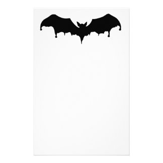 Gothic Melting Vampire Bat Personalized Stationery