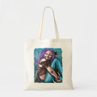 gothic mermaid artwork bag