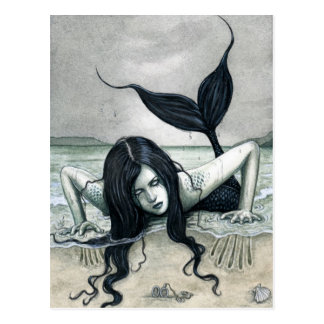 Gothic Mermaid Postcard