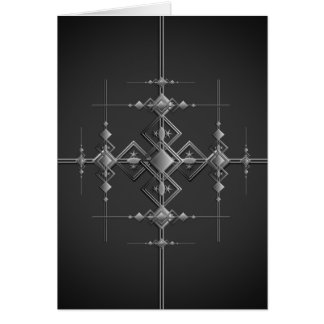 Gothic metallic pattern. card