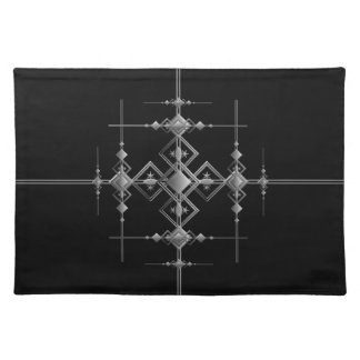 Gothic metallic pattern. placemats