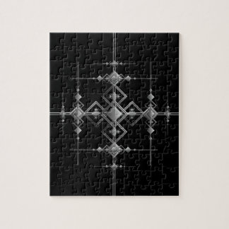 Gothic metallic pattern. puzzles