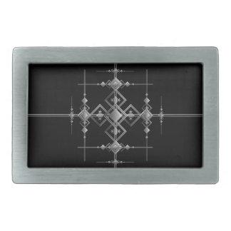 Gothic metallic pattern. rectangular belt buckle