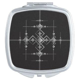 Gothic metallic pattern. travel mirror