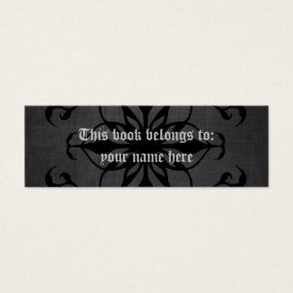 Gothic mini bookmarkers or skinny business cards