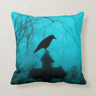 Gothic Mist Of Blue Throw Pillow