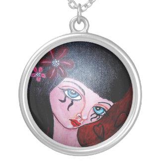 gothic mood halsband round pendant necklace