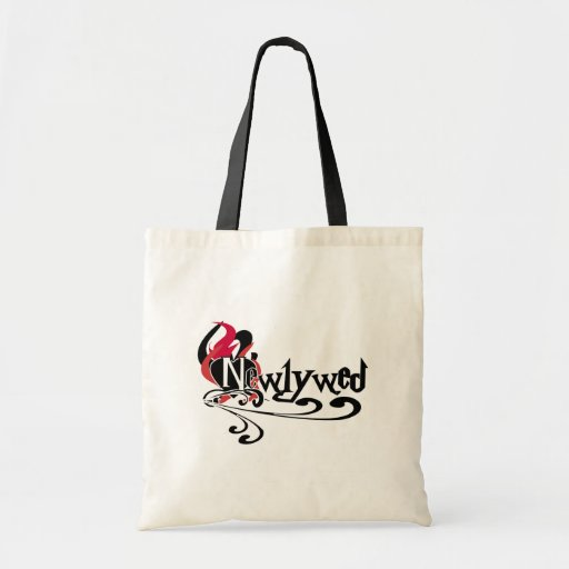 Gothic Newlywed Budget Tote Bag