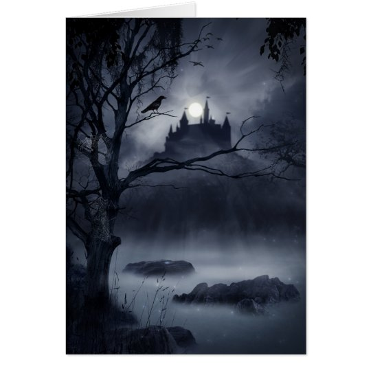 Gothic Night Fantasy Greeting Card