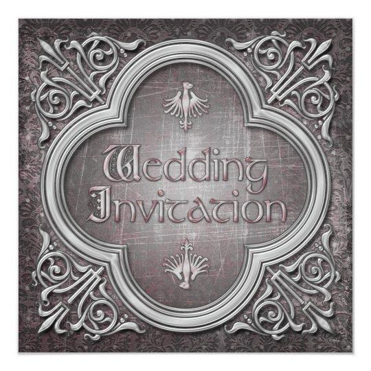 Gothic or Mediaeval Wedding Invitation