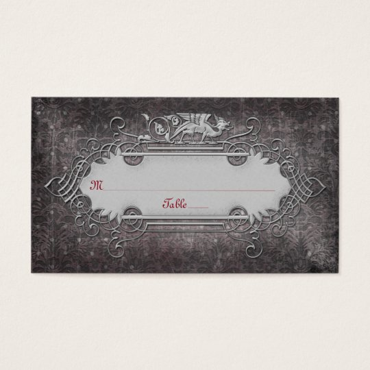 Gothic or Mediaeval Wedding Place Cards