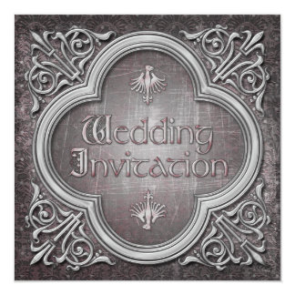 Gothic or Medieval Wedding Invitation