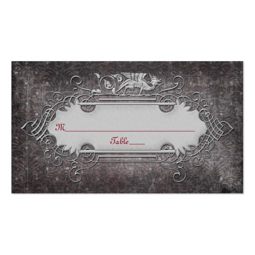 Gothic or Medieval Wedding Place Cards Business Card Template