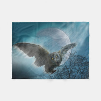 Gothic Owl Small Fleece Blanket