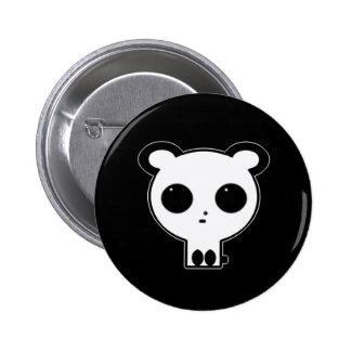 Gothic Panda Button Pin Kawaii