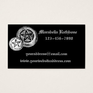 Gothic Pentacles Business Card