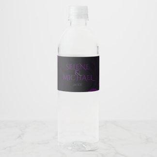 Gothic Plum, Ornate Water Bottle Label