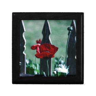 Gothic Poppy Trinket Box
