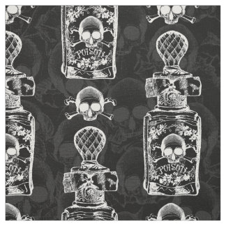 Gothic Pretty Poison Bottle Fabric