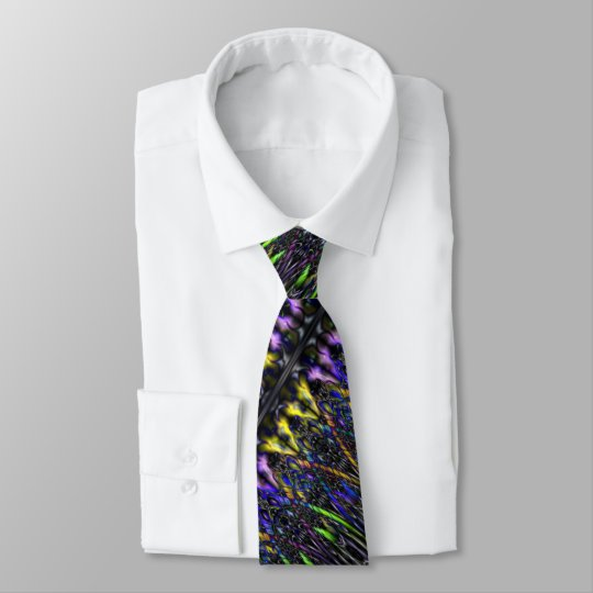 Gothic Psychedelic Stained Glass Warlock Witchy Tie