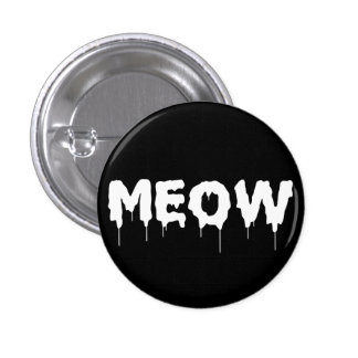 Gothic Punk Meow 3 Cm Round Badge