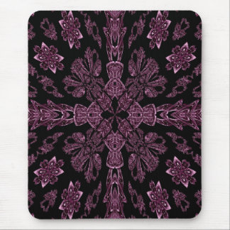 Gothic purple and black cross mousepad