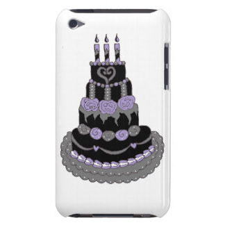 Gothic Purple Birthday Cake Barely There iPod Case