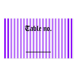 Gothic Purple Butterflies Reception Table Number Business Card