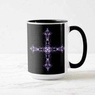 Gothic Purple Fractal Cross