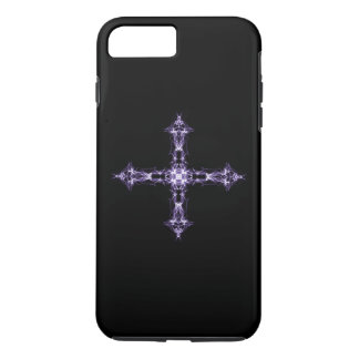 Gothic Purple Fractal Cross iPhone 8 Plus/7 Plus Case