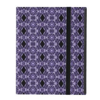 Gothic Purple Lace Fractal Pattern iPad Case