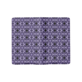 Gothic Purple Lace Fractal Pattern Large Moleskine Notebook