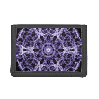 Gothic Purple Lacy Fractal Tri-fold Wallet