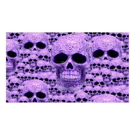Gothic Purple Skulls Business Cards