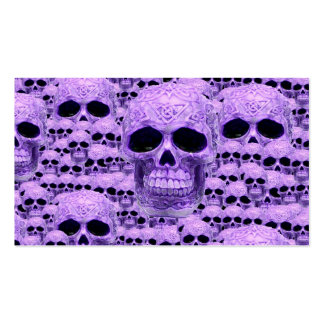 Gothic Purple Skulls Pack Of Standard Business Cards