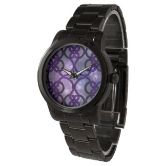 Gothic Purple Tatting Lace Night Sky Watch