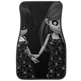 Gothic Rag Dolls BW Car Mat